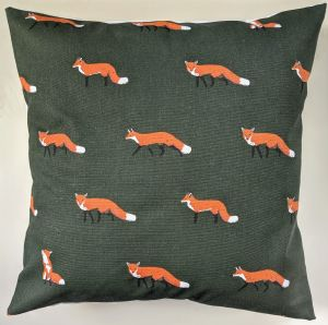 "Cushion Cover in Sophie Allport Fox 14"" 16"" 18"" 20"" 22"" 24"""